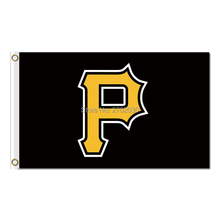 Pittsburgh Pirates Flag World Series Champions Baseball Fan Team Flags Banner 90x150cm Red Yellow Black Banners 100D Polyester(China)
