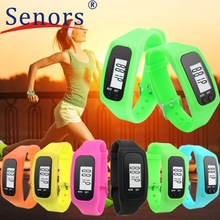 Relogio Feminino 2017 Digital LCD Pedometer Run Step Walking Distance Calorie Counter Watch Bracelet Hot Clock High Quality