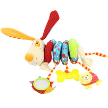 Soft Musical Animal Bee Pink Hanging Toys Plush Crib Bed Car Hanging Hand Rattles Baby Toys Girl Boy Gift Toys gift