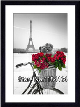 2015 new 3D crystal square diamond painting embroidery needlework cross stitch eiffel tower red rose wall stickers BK-242