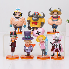 7Pcs/set 7-10cm One Piece Figure Luffy Film Gold Vol.3 PVC Action Figure Collectible Model Doll Kids Toys