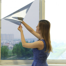 One-way perspective glass film solar film home window cover bedroom shade sunscreen insulation film shade window stickers -45