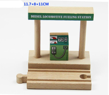 Thomas and His Friends -1PCS Thomas Wooden Train Track Railway Accessories-Diesel Locomotive Fueling Station(China)