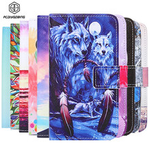 2016 Wallet Painted Book Stand Flip Leather Case For Samsung Galaxy S4 i9500 Card Wolf Rose Owl Effiel Tower case Cover