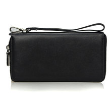 Buy Brand Genuine Leather Long Wallet Men Female Male Cuzdan Male Zipper Business Clutch Walet Handy Coin Purse Rfid PORTFOLIO for $24.75 in AliExpress store