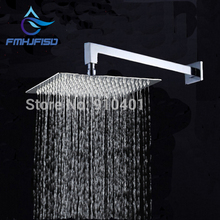"Modern Square Wall Mounted Shower Head Shower Arm 8"" Over-head Shower Sprayer Free Shipping(China)"
