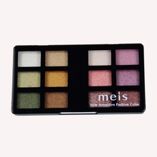 MEIS Brand Professional makeup eyeshadow glitter make up Eye shadow 12 Colors eyeshadow Palette Beauty eye glitter MS414