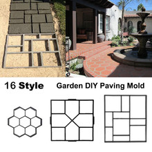 16 Style Plastic Cement Mold Driveway Paving Path/Border Maker Mold Garden DIY Tool Concrete Stepping Mould(China)
