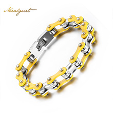 Meaeguet Fashion Women Bike Chain Bracelets 316L Stainless Steel Bracelets Bangles for Women Jewelry For Christmas Gift