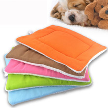 Discount! Pet Mat Dog Cat Fleece Blanket Bed Soft Cushion Kennel Cage Pad House Washable Cama Para Cachorro Dog Bed Pet Supplies(China)
