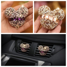 car-styling Bling cute Air Freshener rhinestone decorations Crystal Mickey Perfumes Girl cool Air Conditioning Vent Flavoring