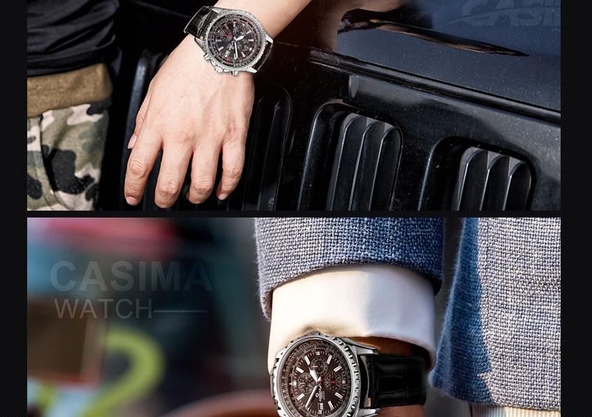 ساعة يد رجالي ماركة كوارتز 14