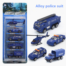 5Pcs Varied Alloy Police Car Diecast Model Set Educational Puzzle Toy Car For Boy Children Gifts,Free Shipping
