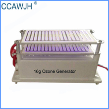 Low Noise 8g /16g Ozone Generator Ozone Sterilizer with Double Electrode Ceramic Plate Quick Deodorization +Free Shipping(China)