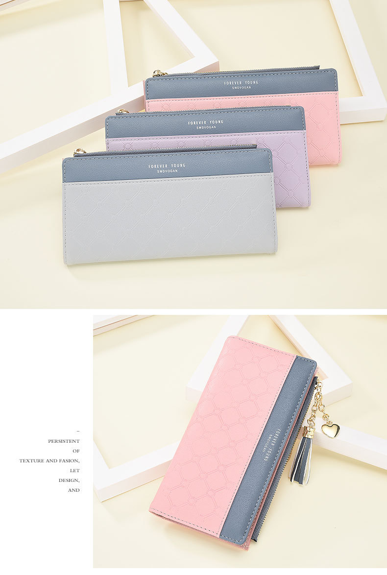 2018 Fashion Ladies Wallet Female Short Zipper Coin Purse Small Wallets Young Womens Tassel Hasp Purses Button Card Holder Pouch 100