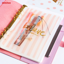 New cute 6 holes filling organizer inside pouch for spiral notebooks,candy student notebook index pouch accessories statioonery