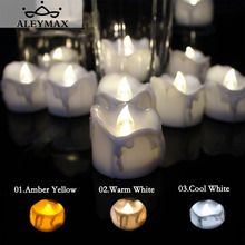 12PCS Timer Function Flickering Tea Candle Romantic Flameless LED Candle Light Lamp Decoration For Home Festival Wedding Party(China)