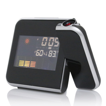 Digital Alarm Clock Color Screen Projection Multi-function Alarm Clock Weather Time Desktop Clock Watch High Quality LCD Display