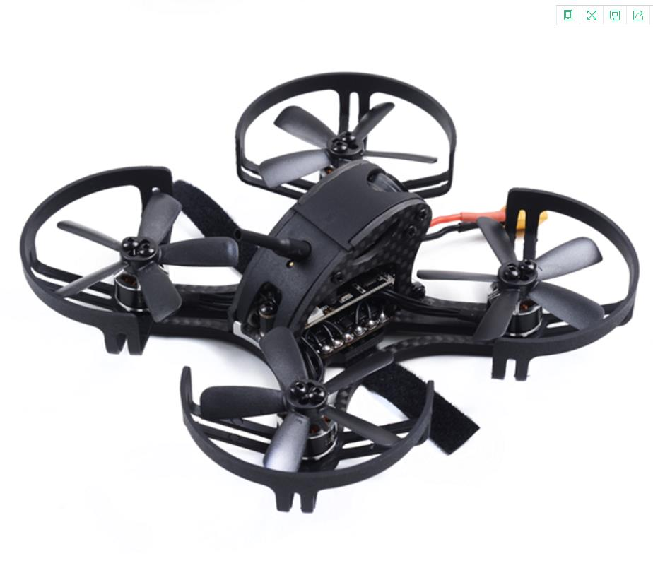 FPV 90mm RC Racing FPV Quadcopter with DSM/DSM2/PPM/SBUS 4in1 BLheliS 20A BNF Flight Controller BLHELI ESCs 1104 7500KV