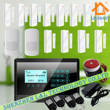 Wireless GSM SMS 12pcs Door Window Sensors Home Auto-Dial Burglar Security Alarm System with Touch Keypad Control Panel DIY Kit