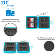 JJC Water-Resistant 4 Nintendo Switch Game Card + 4 Micro SD Card Storage Box Protector Holder(China)