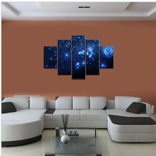 Modern Abstract Oil Paintings On Canvas Wall Art Blue Sky Stars Unframed 5P/Set Wall Paintings