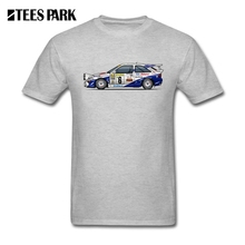 Fun Tee Shirts Ford Escort RS Cosworth Rally Monte Carlo Car Man Slim Fit Short Sleeved T-Shirts Great Discount Teenage T Shirt(China)