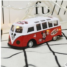 TOMLOV for Mickey Mouse style mini bus toy for baby child 1:55 for over 3 years old toy bus cartoon small bus(China)