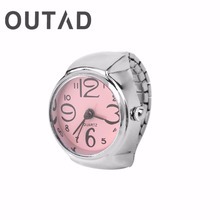 Ring Watch Quartz Finger watch Men Women Unisex Rings Gift Jewelry Stainless Steel Ring Watches Trendy Creative Design Accessory