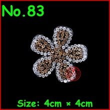 3 Pcs/Lot Gold Flower Motif Rhinestones Hotfix Iron On Crystal Patches For Bride Wedding Dress Clothes Applique DIY Garment(China)
