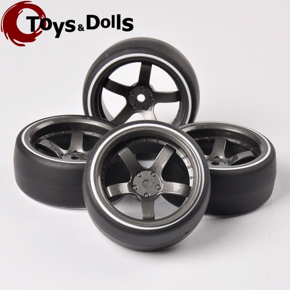 4 Pcs/Set RC 12mm Hex 1/10 Double Color Drift Tires&amp;Wheel Rim PP0366W/D5M For 1/10 On-Road Model Car Toys Parts/Accessories D<br><br>Aliexpress