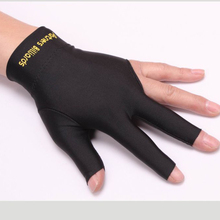 Black Red White Spandex  Lycra  Snooker Billiard Cue Glove  Pool Left Hand Open Three Finger Accessory