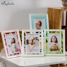 1PC Picture Frame Resin Children Photo Frame Plastic Vertical Display Home Decor 7 Inch Picture Pendulum Frames D10
