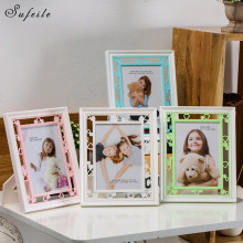 1PC Picture Frame Resin Children Photo Frame Plastic Vertical Display Home Decor 7 Inch Picture Pendulum Frames D10(China)