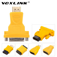 VOXLINK HDMI Type A Male/Female to Micro HDMI Type D/Mini HDMI Type C /DVI-D M/F 24+1 converter extender cable adapter for HDTV