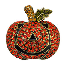 vintage exaggerated Halloween crystal Pumpkin brooch Valentine's Day gift jewelry costume jewelry brooches bouquets(China)