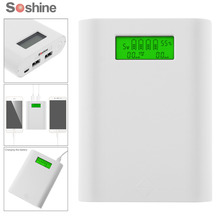 Soshine E3S 18650 Portable Power Source Bank with Dual USB + Smart Intelligent 18650 Battery Charger with LCD Display(China)