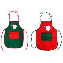 20 Pcs / Lot Red & Green Santa Claus Apron Cute Funny Christmas Aprons Christmas Gifts for Men Women enfeite de natal criativo
