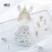 100 pcs/lot Lovely Rabbit mini paper sticker DIY diary decoration sticker for planner album scrapbooking kawaii stationery
