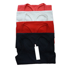 Clearance Women's Plus Size Solid Racer Back Ribbed Cotton Tank Top Red Black White Pink