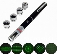 new Stylish 300mw/500mw 5in1 5pattern Green Laser Pointer pen Star sample free shipping