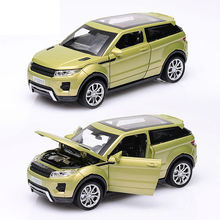 1/32 Alloy Land Rover Aurora 15cm, Metal Car Good looking, light and sound, Pull back and return power