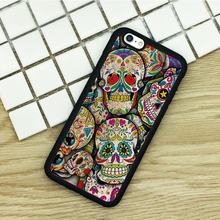 Soft TPU Phone Cases For iPhone 6 6S 7 Plus 5 5S 5C SE 4 4S ipod touch 4 5 6 Cover Shell Mexican Sugar Skull Sticker Bomb