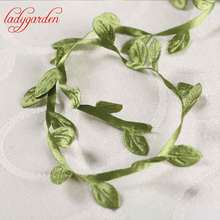 5 Meter Silk Nature Green Artificial Leaf Leaves Vine For Wedding Box Decoration Foliage Handmade Scrapbooking Craft Wreath(China)