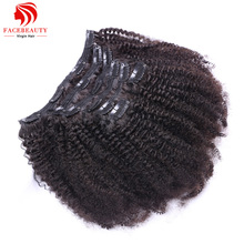 Clip In Human Hair Extensions 7pcs/set Brazilian African American Clip In Human Hair Extensions Clip Ins Curl Coily