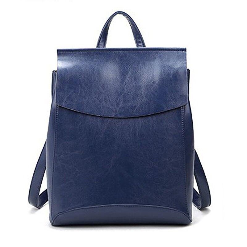2017 Fashion Women Backpack High Quality Genuine Leather Backpacks for Teenage Girls Female School Shoulder Bag Bagpack mochila<br>
