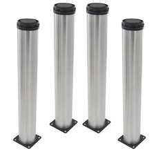 4pcs 500mm Height Furniture Legs Adjustable 15mm Silver Tone Stainless Steel Table Bed Sofa Leveling Feet Cabinet Legs(China)