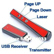USB Wireless RF 2.4G Remote Control Presentation Presenter Laser Pointer PPT Power Pointer Slide PEN for Lecture Speech Teaching(China)