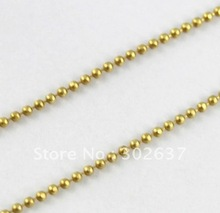 40 Meters 1.5mm ball beaded brass chain #20565(China)