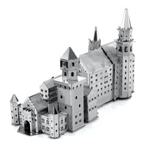 Neuschwanstein Castle 3D Metal Puzzle For Children DIY International Architecture Puzzle Kids Toys For Boy